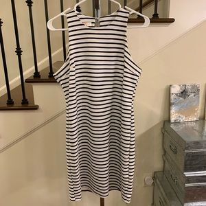 ReneeC Black/White Baby Doll Dress Sz 6